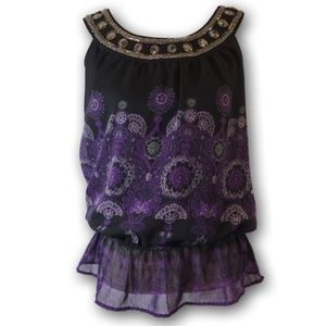Apt 9 Purple/Black Blouse